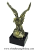 The Great American Eagle Army Statue, USA, Go Army Seal Emblem on brass finished eagle, marble base, from official White House Gift Shop Est. 1946.