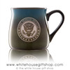 The White House Seal Presidential Large 16 Ounce large Artisan Mug, etched in America, United States Eagle, quality mugs from official White House Gift Shop.