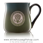 The White House Seal Presidential Extra Large 26 Ounce large Bistro Mug, etched in America, United States Eagle, quality mugs from official White House Gift Shop.