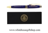 The White House cobalt blue  ballpoint pen in white house pen box, from our Presidential Pen collection at the original official White house Gift Shop, since 1946, Giannini Design,artist-designer-photographer