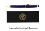 president- cobalt blue signing-pens-white house pens-trump-obama-bush-all-presidents-pen-collection-white house-official-white house gift shop-anthony giannini artist-designer-photographer