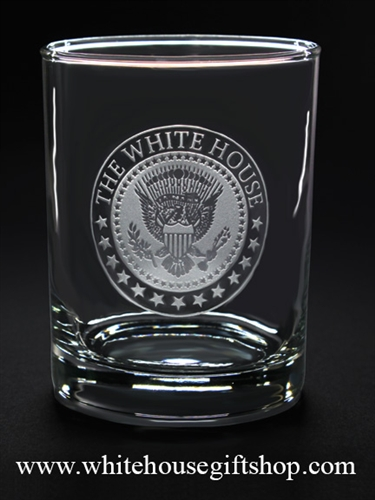 White House Dining Room Crystal Glassware with Biden Presidential Seal from the White House Gift Shop
