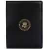White House Presidential Seal Black and Gold  Padfolio Tablet Portfolio Folio Made in the USA