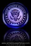 White House and Presidential Seal Glass Paperweight and Recognition Display-Made in the USA-President Trump Glass Gifts-White House Gift Shop and Gifts Glass Statue Collection