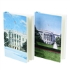 White House Journal Books and Writers Set with a Painting of the White House in Winter and Summer