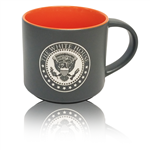 White House Seal Presidential 15 ounce, large Bistro Mug, Cup, etched in America, United States Eagle, quality mugs from official White House Gift Shop.