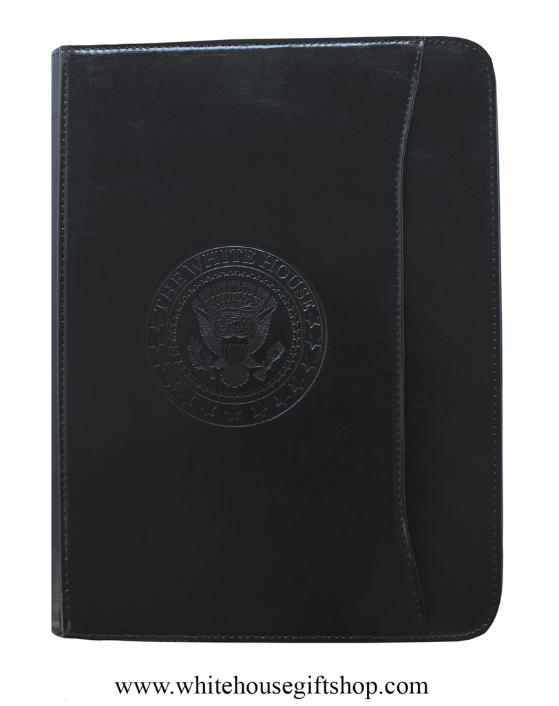 new arrival 7b97d 276cf Portfolio, The White House Folio, LEATHER, Elegantly Debossed, Zippered,  Front Pocket, ID Window, 5 Card Holders, Inside Document Pocket, Zippered  ...