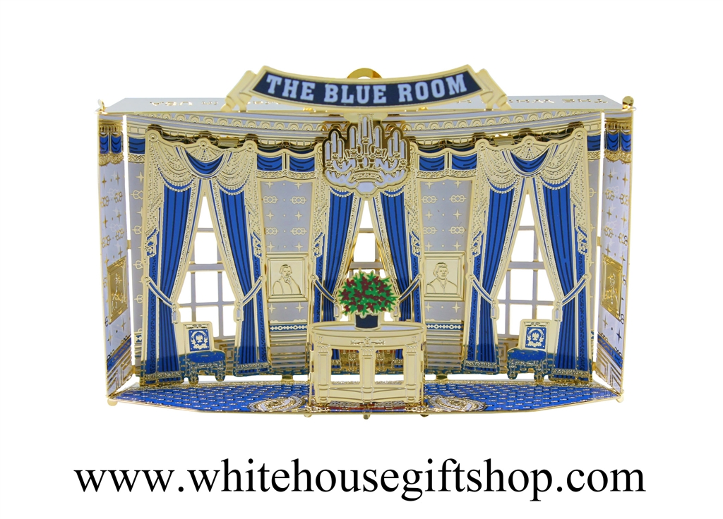 The Rooms Of The White House Ornament Collection Is S An Ongoing Series Of The Official White House Gift Shop Est 1946 This Piece In The Collection Is The Blue Room And