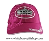 Baseball Style White House Pink Hat