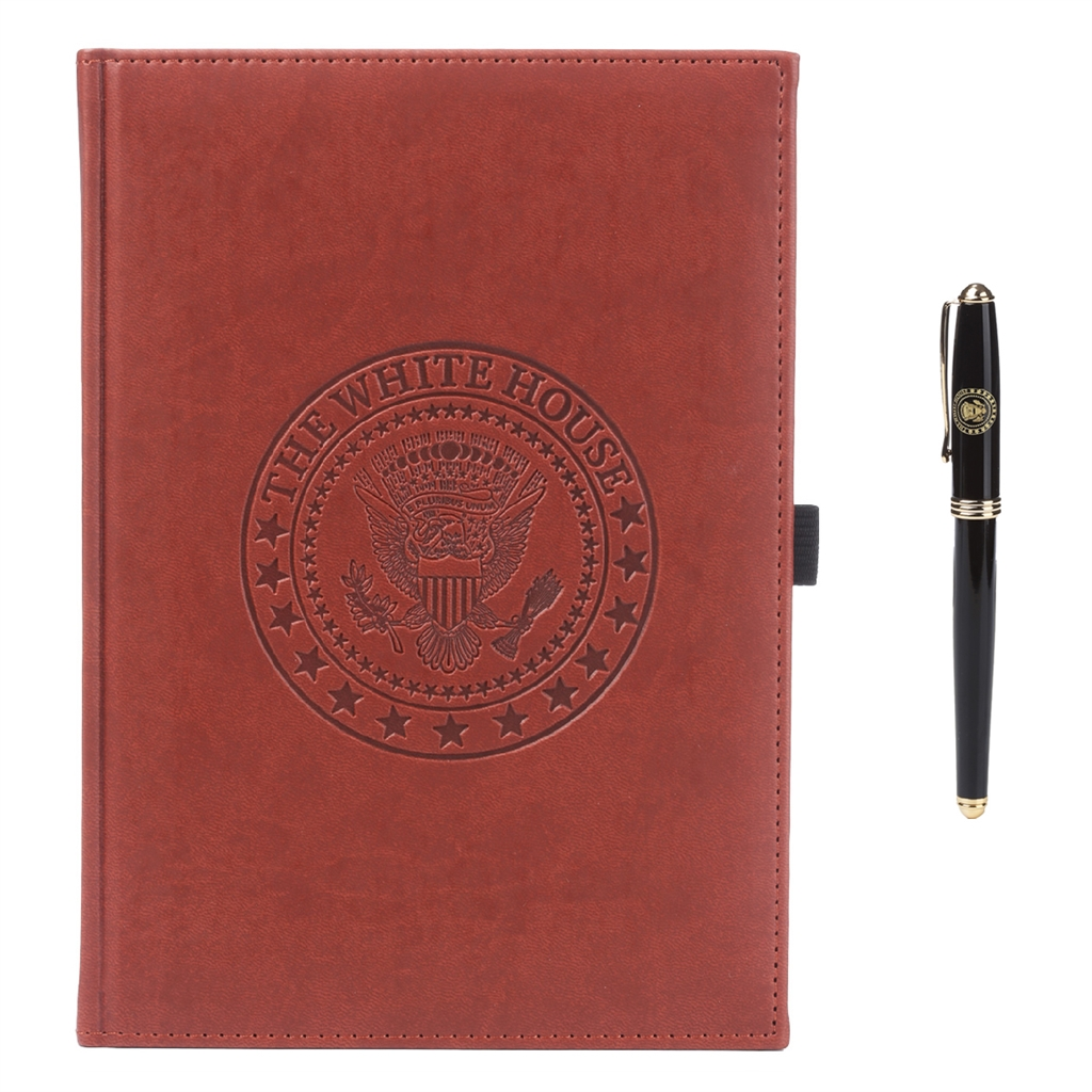 Super The White House Journal Book with Pen, White House Seal, Soft  OA47
