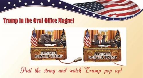 President Elect Donald J. Trump 45th President Popup Magnet