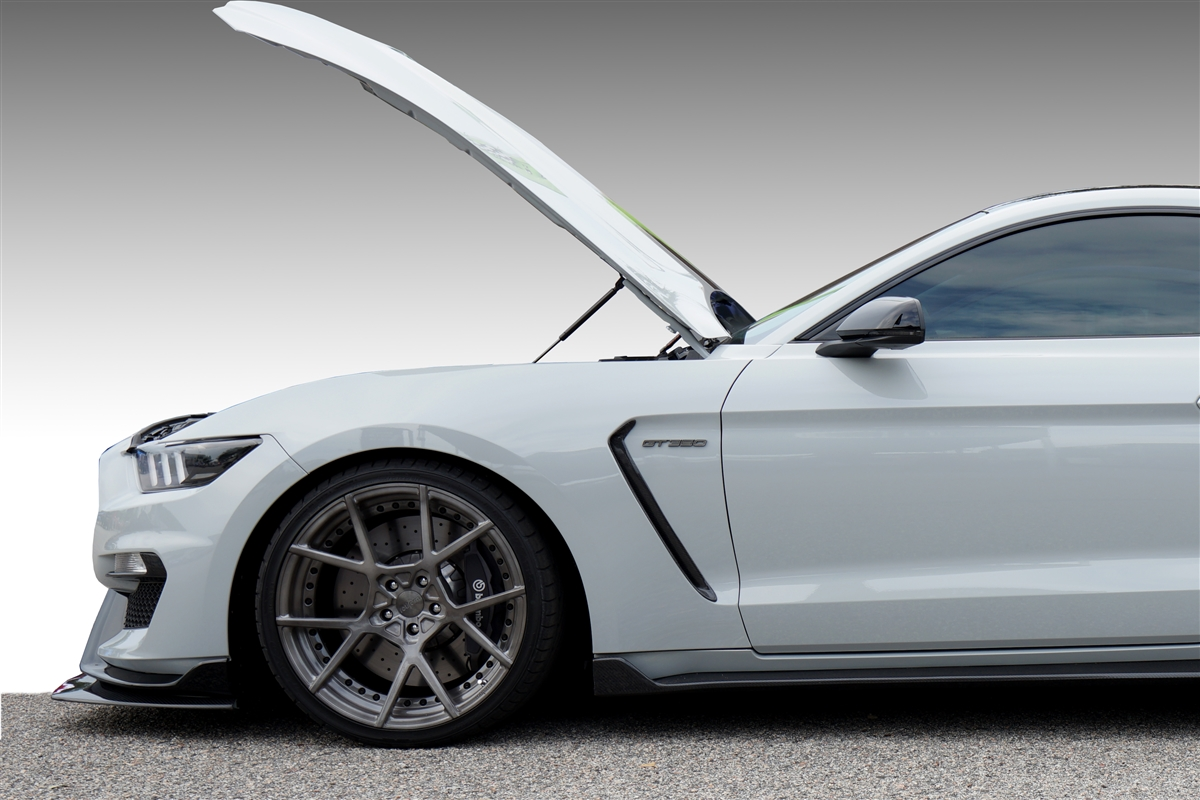 2016 shelby gt350 gt350r hood quicklift plus