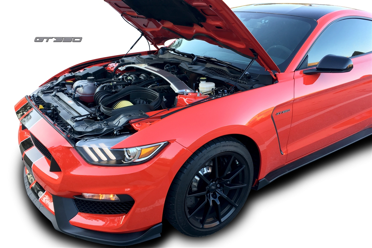 2016 ford mustang shelby gt350 gt350r hood quicklift plus