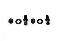 2004-2008 Acura TSX Hood Hardware Kit - Black