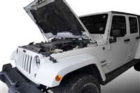 2007-2017 Jeep Wrangler Hood QuickLIFT PLUS (V2) - Bolt-in System