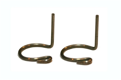 End-Fiting (Steel) Curved wire ball-stud retainers (2 Pack)