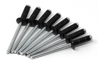 #2 Black multi-grip rivets - (Qty 8)