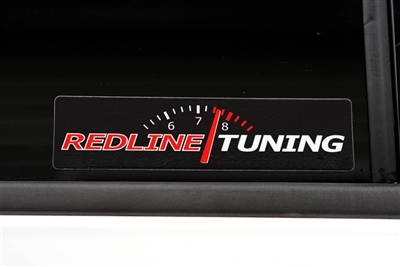 Redline Tuning Logo - TM - with RPM - Black Background