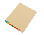 <b>Medical Tab Divider Set, 8 Preprinted Bottom Tabs</b>
