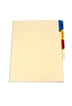 <b>Medical Tab Divider Set, 4 Preprinted Side Tabs</b>