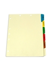 <b>Medical Tab Divider Set, 6 Preprinted Side Tabs</b>