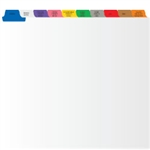 <b>Home Health Tab Divider Set, 10 Preprinted Side Tabs, White Stock</b>