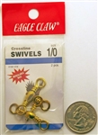 Eagle Claw Brass Crossline Swivels Size 1/0 01061-019