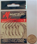Matzuo Baitholder Offset Down Eye Hooks Size #2 Black Chrome 100011-2