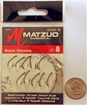 Matzuo Baitholder Offset Down Eye Hooks Size #8 Black Chrome 100011-8