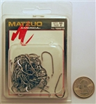 Matzuo Baitholder Offset Down Eye Hooks Size #2 Black Chrome 100013-2 50 Pack