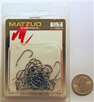 Matzuo Baitholder Offset Down Eye Hooks Size #4 Black Chrome 100013-4 50 Pack