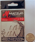 Matzuo Baitholder Offset Down Eye Hooks Size #10 Bronze 100021-10