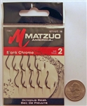 Matzuo Octopus Beak Hooks Size #2 Black Chrome 113011-2