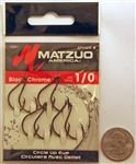Matzuo Circle Hooks Up Eye Size #1/0 Black/Chrome 123011-1/0