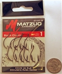 Matzuo Circle Hooks Up Eye Size #1 Black/Chrome 123011-1
