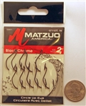 Matzuo Circle Hooks Up Eye Size #2 Black/Chrome 123011-2