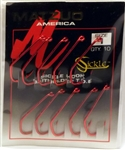 Matzuo Sickle Hooks Baitholder T.D.E. Size #1 Red/Chrome 140061-1