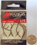 Matzuo X-Wide Gap Worm Sickle Hooks Size #5/0 Black Chrome 143011-5/0