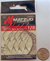 Matzuo O'Shaughnessy Sickle Hooks Size #1/0 Sea Armor 145051-1/0