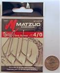 Matzuo O'Shaughnessy Sickle Hooks Size #4/0 Sea Armor 145051-4/0