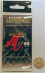 "Matzuo 18"" Fluorocarbon Circle Hook Snell  Size#4 Black Chrome  213011-4"
