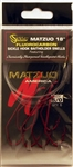 "Matzuo 18"" Fluorocarbon Sickle Hook Baitholder Snells 5/0 Red/Chrome  240061-5/0"