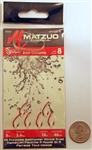 "Matzuo 18"" Baitholder Sickle Snell Hooks  Size#8 Red Chrome  240061-8-4"