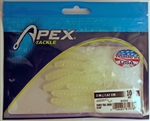 "Apex 3"" Curly Tail Grubs AP-CT3-17 (Glow)"
