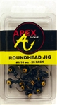 Apex Roundhead Jigs 1/6oz 25 Pack AP116-25-7 Black