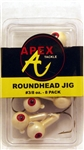 Apex Roundhead Jigs 3/8oz AP38-8-5 Off White