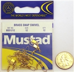 Mustad Brass Snap Swivels Size-12 BSS1212