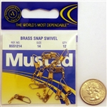 Mustad Brass Snap Swivels Size-14 BSS1214