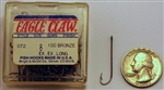Eagle Claw All-Purpose Hooks Size-#8 Bronze 2X Long 072-8 100 Pack