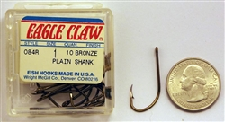Eagle Claw All-Purpose Hooks Size-#1 Bronze 084R-1 10 Pack